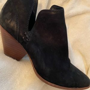 Frye black suede ankle boots size 8 1/2...